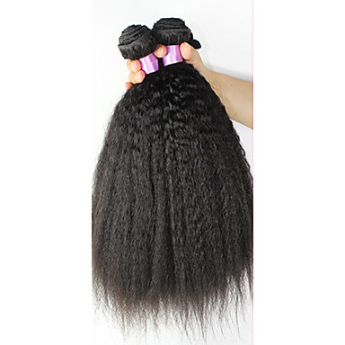 povoljno Ekstenzije od ljudske kose-3 paketa Brazilska kosa Ravan kroj Ljudske kose plete Isprepliće ljudske kose Proširenja ljudske kose / 8A