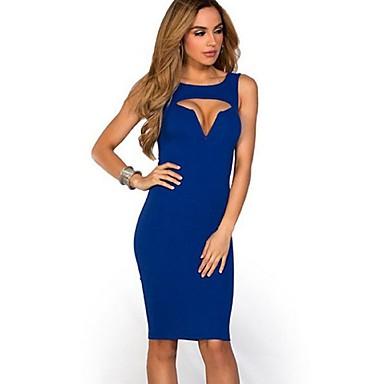 3271 ženske Bodycon Osoba Rad Mikro Elastične Rukava Koljena Haljina žene Celebrity Elegantne Visoke Kvalitete Haljine