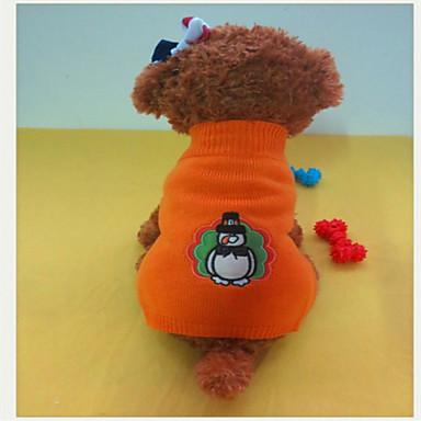 Hund Tröjor Hundkläder Gul och Grön Blandat Material Kostym Till Vinter