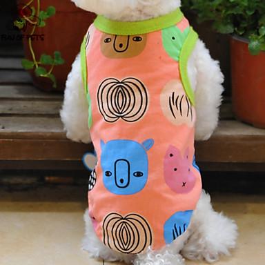 Katter / Hundar T-shirt Orange Hundkläder Sommar Tecknat Bröllop / Cosplay