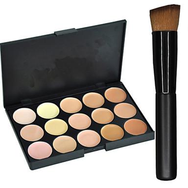 15 färger Concealer / Contour Sminkborstar Torr / Kombination / Oljig Concealer Ansikte Smink Kosmetisk