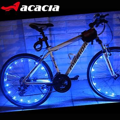 LED Cykellyktor Blinkande ventil hjul lampor - Bergscykling Cykel Cykelsport Vattentät Bärbar Färgskiftande Varning Cellbatterier 400 lm USB Batteri Cykling - Acacia / IPX-4