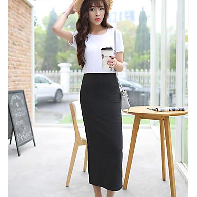 a8056f652 sexy / casual / festa / trabalho micro-saias midi elásticas finas das  mulheres (algodão / elastano) de 3830599 2019 por $53.32