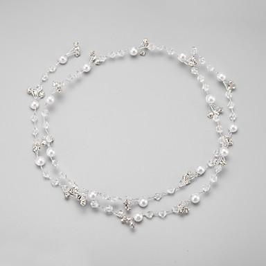 Oäkta pärla / Bergkristall / Legering pannband med 1 Bröllop / Speciellt Tillfälle Hårbonad