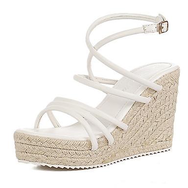 cd61c057 Hvide kilehæl sandaler