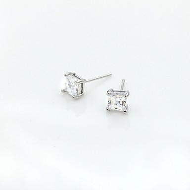 povoljno Modne naušnice-Žene Kristal Sitne naušnice Europska Moda Small 18K pozlaćeni Umjetno drago kamenje Pozlaćeni Naušnice Jewelry Pink Za / Imitacija dijamanta / Austrijski kristal