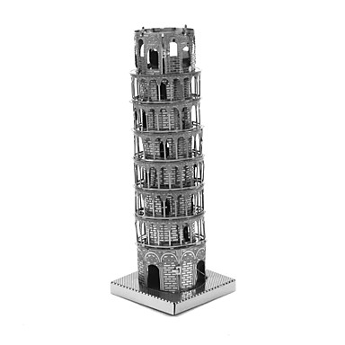 levne 3D puzzle-Dřevěné puzzle Modele Dřevěný model Šikmá věž v Pise Kov Dětské Dospělé Chlapecké Dívčí Hračky Dárek