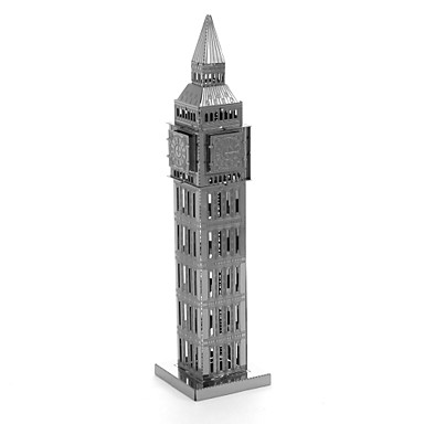 levne 3D puzzle-Dřevěné puzzle Modele Dřevěný model Big Ben Kovový Dětské Dospělé Chlapecké Dívčí Hračky Dárek