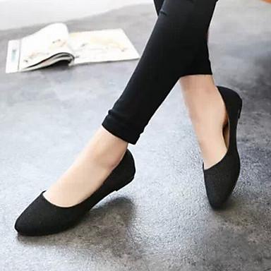 969957b27 Women s Shoes Leatherette Flat Heel Comfort Closed Toe Flats Outdoor Casual  Black Purple Silver Beige 4021417 2019 –  19.99