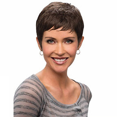 Synthetic Wig Wavy Style Bob Capless Wig Natural Black Synthetic Hair Women's Bangs Wig Short Halloween Wig