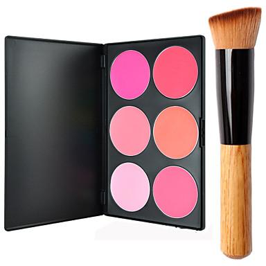 6 färger Puder Rodna Torr / Kombination / Oljig Ansikte Smink Kosmetisk