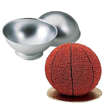 3D-sportkorg boll fotboll kakform form set pan bakning bageri tenn kök verktyg pan aluminium