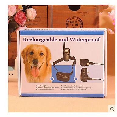 Hundträning Träning Anti Bark krage Chockkrage Fjärrstyrd Elektrisk Vattentät anti Bark Laddningsbart Klicker Lydnadsträning För husdjur / Säkerhet