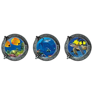 Landskap Väggklistermärken Väggstickers i 3D Dekrativa Väggstickers, Vinyl Hem-dekoration vägg~~POS=TRUNC Vägg