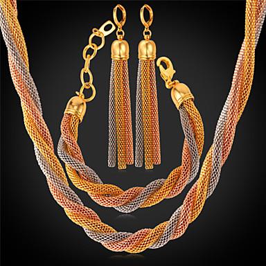 levne Dámské šperky-Dámské Nerez Pozlacené Náušnice Šperky Duhová Pro Svatební Párty Denní Ležérní Sport / Náhrdelníky / Náramek