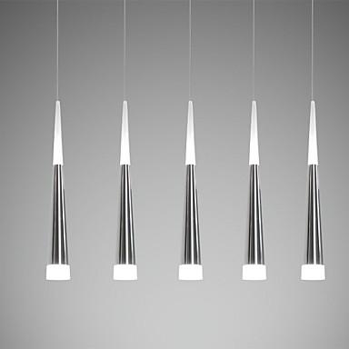 Ecolight™ 5-Light Klunga Hängande lampor Glödande Elektropläterad Metall Akryl LED 90-240V Varmt vit / Vit