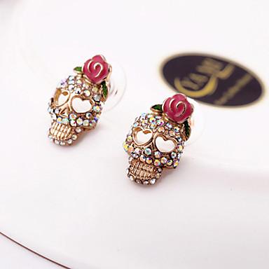 povoljno Modne naušnice-Žene Sitne naušnice Lubanja Halloween Memento Mori dame Skeleton Naušnice Jewelry Pink Za Dnevno Kauzalni