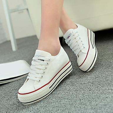 Zapatos blancos de otoño de punta redonda casual para mujer AIxrrowHv