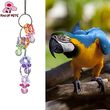 Fågel Fågelleksaker Metall Plast Flerfärgad