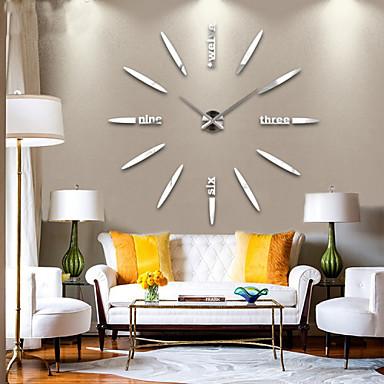 baratos Decoração-Contemporâneo Moderno Metal Casas / Família AA Decoração Relógio de parede Analógico Não
