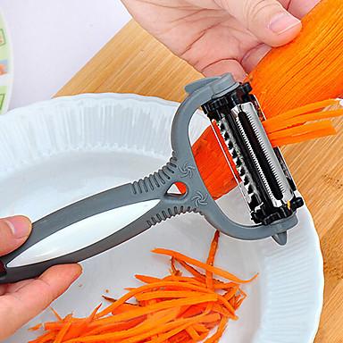 billige Kjøkkenutstyr og -redskap-3 i 1 roterende frukt peeler360 grader gulrot potet slicer kjøkkenverktøy