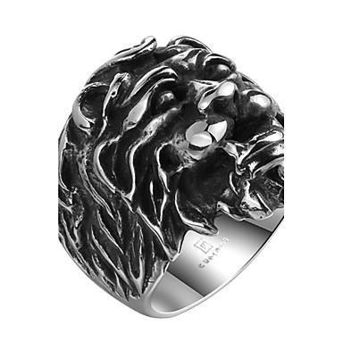 levne Pánské šperky-Pánské Boxer Stříbrná Nerez Slitina Geometric Shape Přizpůsobeno Punk Halloween Street Šperky Lev