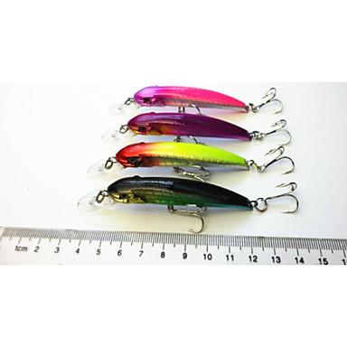 4pcs Fiskbete Spigg Sjunker Bass Forell Gädda Sjöfiske Färskvatten Fiske Drag-fiske Hårt Plast / Generellt fiske / Trolling & Båt Fiske