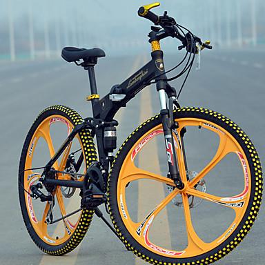 povoljno Bicikli-Mountain Bike / Folding bicikle Biciklizam 27 Brzina 26 inča / 700CC MICROSHIFT TS70-9 Disk kočnica Vilica s oprugom Stražnja suspenzija Običan Aluminijska legura