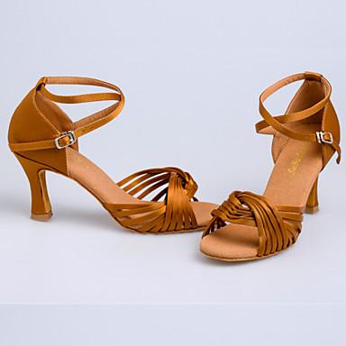 Non Přizpůsobitelné - Dámské - Taneční boty - Latina   Taneční tenisky    Moderní   Samba   Šicí boty - Satén - Jehlový podpatek -Černá   4224774  2019 – ... e4604c749b