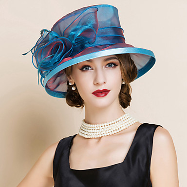 e7de134bf453c Women s Organza Headpiece-Wedding Special Occasion Hats 1 Piece 4192637  2019 –  32.99