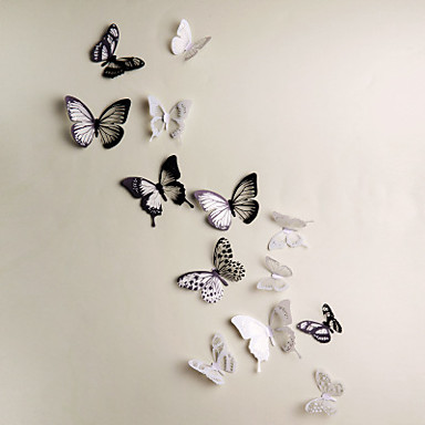 D Wall Stickers PCS Butterfly Wall Decals Wedding Decoration - Butterfly wall decals 3d