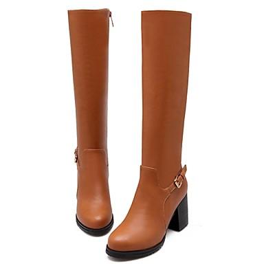 23729b010cb Γυναικεία παπούτσια - Μπότες - Ύπαιθρος / Καθημερινά - Χοντρό Τακούνι -  Μοντέρνες Μπότες / Μπότες Μηχανόβιου - Δερματίνη - Μαύρο / Καφέ 4062042  2019 – ...