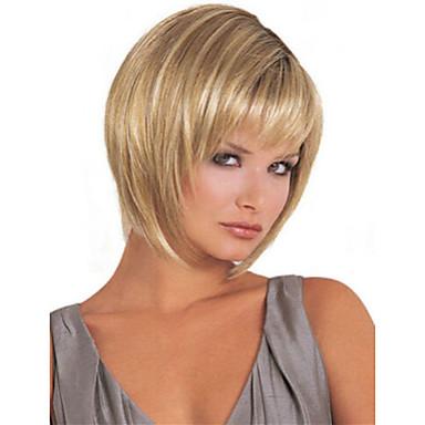 2564 Peruki Syntetyczne Prosta Styl Fryzura Bob Bez Czepka Peruka Blond Włosie Synetyczne Damskie Peruka Krótkie Długie Strongbeauty Peruka