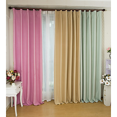 Rod Pocket Grommet Top Tab Top Double Pleated Two Panels Curtain Modern  Living Room Polyester Material Blackout Curtains Drapes Home 4201419 2017 U2013  $46.74 Part 52
