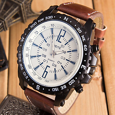 men brand weite leather index watches