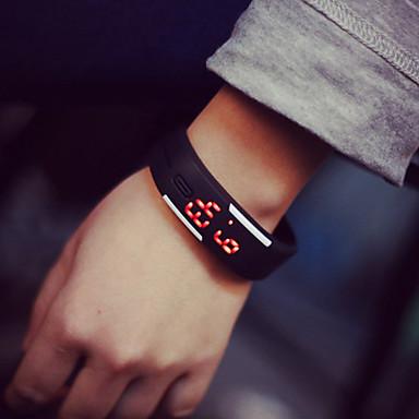 levne Dámské-Pro páry Náramkové hodinky Digitální Pryž Černá / Bílá / Modrá 30 m Digitální Módní Elegantní - Světle modrá S lístky Citrónová