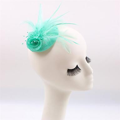povoljno Party pokrivala za glavu-Drago kamenje i kristali / Lan / Perje Fascinators / Headpiece s Kristal 1 Vjenčanje / Special Occasion / Zabava / večer Glava