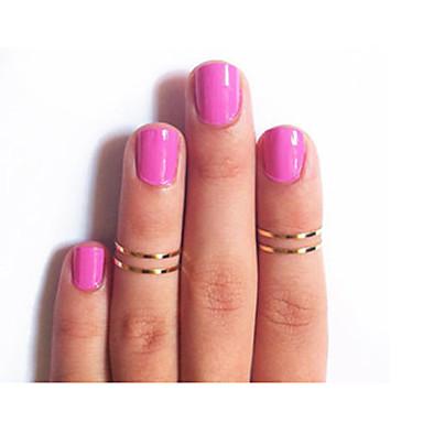 levne Dámské šperky-Dámské Prsten Go Rings 1ks Zlatá Stříbrná Barva obrazovky Slitina dámy Neobvyklé Jedinečný design Párty Šperky Levný