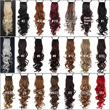 """levne Culíky-Culíky a copy Hair kus Kudrny Klasický Umělé vlasy 24"""" Prodlužování vlasů Denní"""