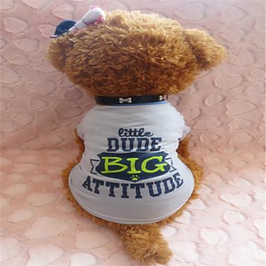 Hund T-shirt Hundkläder Grå Kostym Cotton XS S