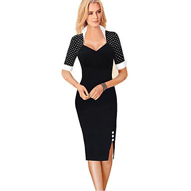 Γυναικεία Φόρεμα Ως το Γόνατο Κοντομάνικο Ρωμαϊκή Πλέξη 4055337 2019 –   32.43 4ab412dc24a