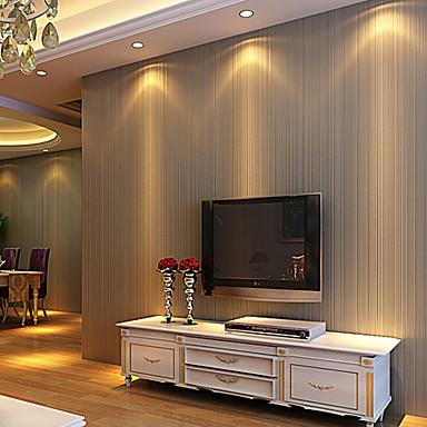 preiswerte Tapete-Streifen Haus Dekoration Moderne Wandverkleidung, Nicht-gewebtes Papier Stoff Klebstoff erforderlich Tapete, Zimmerwandbespannung