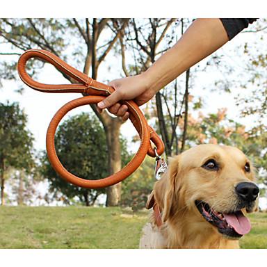 preiswerte Halsbänder, Geschirre und Leinen für Hunde-- Schwarz/Braun - PU Leder - Einziehbar