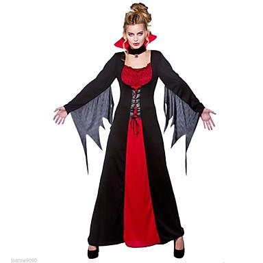 Vampyr Cosplay Kostymer / Dräkter Dam Halloween Karnival Festival / högtid Spandex Terylen Dam Karnival Kostymer