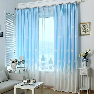 en panel utskrift gardin tre färger gardin drapera
