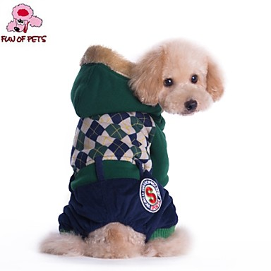 Coats Hoodies Pants For Dogs Cats Red Green Winter Wedding