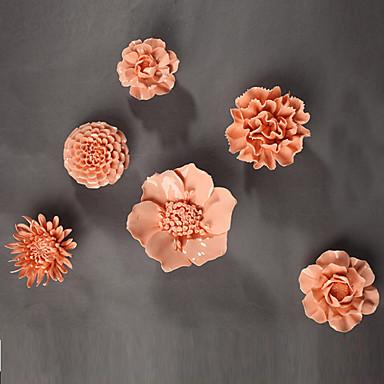Ceramic Flower Wall Decor E Homea Ceramic Wall Art Decor Pink Flowers D On Fantastic Wall Decor Flowers Ceramic Flower Creativ