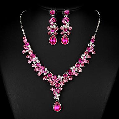 povoljno Komplet nakita-Žene Bijela Kubični Zirconia Komplet nakita Kubični Zirconia Naušnice Jewelry Fuksija Za Vjenčanje Party Special Occasion godišnjica Angažman