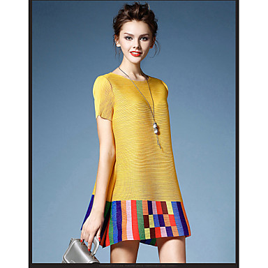 8416b87cc 2015 New Summer Women Loose Pleated Dress Round Neck Short-sleeved Dress  Ethnic Style Fashion Dress HNZ0805 4080734 2019 – $49.80