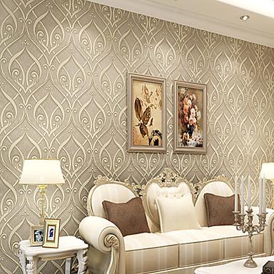 Contemporary Wallpaper Art Deco 3D European Roll Teng Flower ...